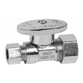 1/4 turn straight stop valve cxc