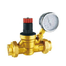 Double Union Pressure Reuglating Valve with Gauge
