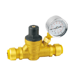 Push-Fit Pressure Regulating Valve with Gauge