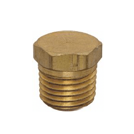 Brass Hex Head Pipe Plug