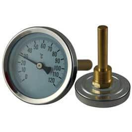 Bi-Metal Threaded Thermometer