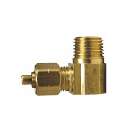 Brass Compression x MIP Elbow with Insert