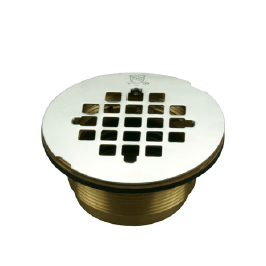 Brass No-Caulk Shower Drain