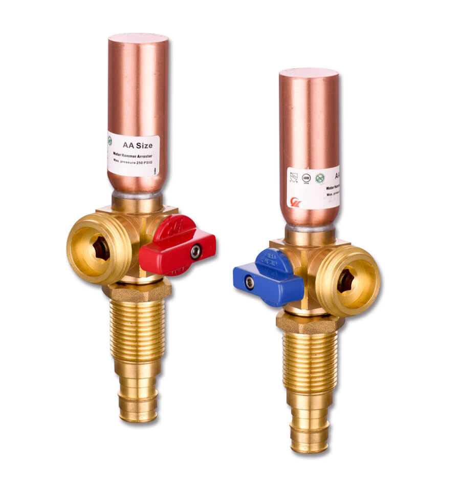 Washing Machine Supply Valve With Hammer Arrestor
