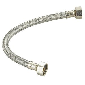 "Flexible Stainless Steel Faucet Connector F1/2"" X F 1/2"""
