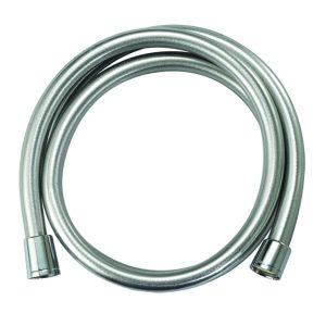 Silver smooth shower hose