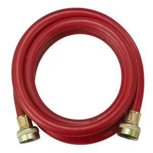 PVC-Rubber Reinforced Washing Machine Connector - Red