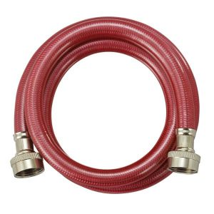 PVC Coated Stainless Steel Washing Machine Connector - Red