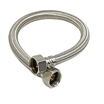 Braided water heater supply line