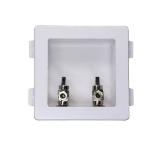 Faucet outlet box with valve
